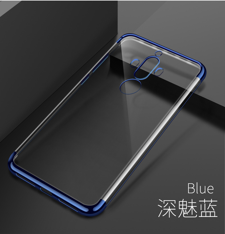 New Arrival Flexible Soft Transparent Electroplating TPU Case for Huawei Mate 9