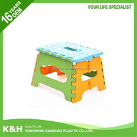Low colorful plastic foldable stool