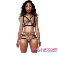 Fast delivery Dear-Lover African Print Inspired Two Piece women in skimpy bathing suits