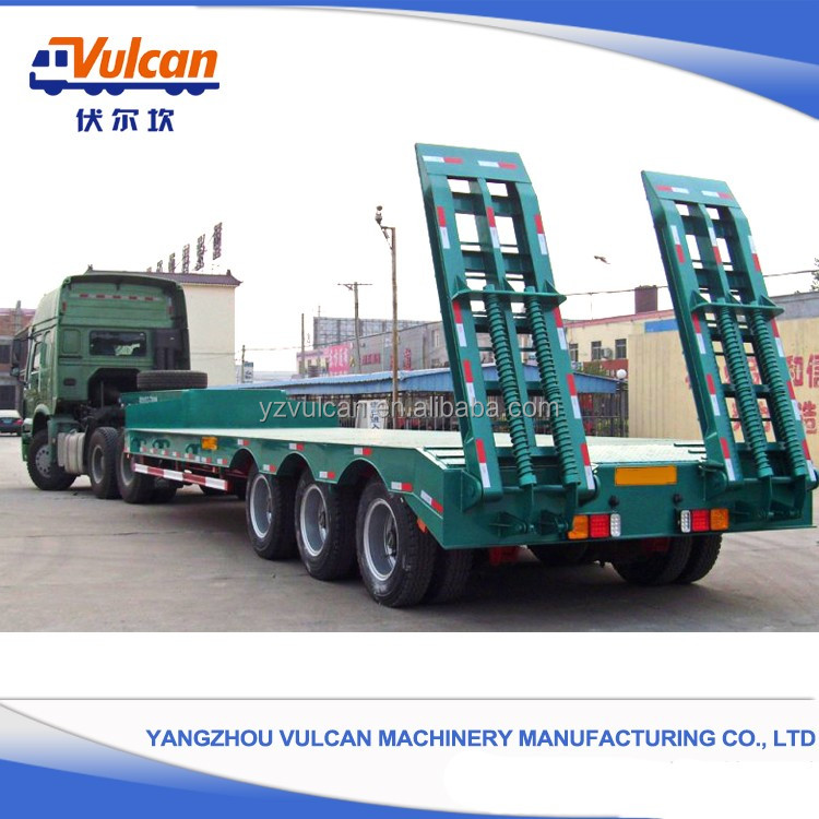 OEM high quality 3 axles flatbed semi truck horse trailers for sale
