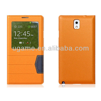 Orange Folio Leather Case For LG G3 New Product Mobile Phone Accessory