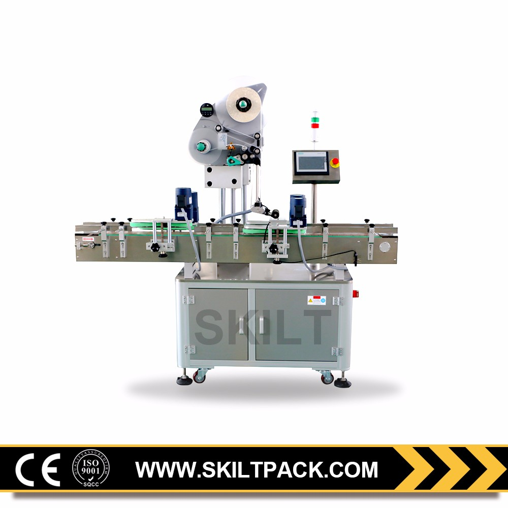 Automatic top surface label pasting llabeling machine for sale