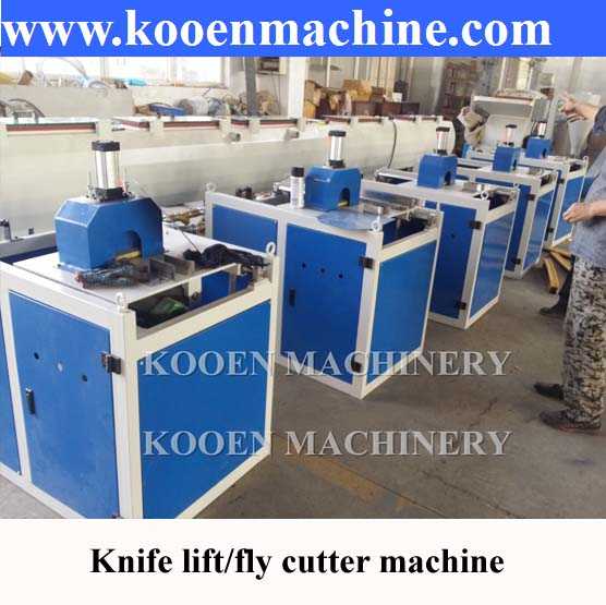 PVC pipe plastic pipe knife lift flying cutter machine with fast delivery