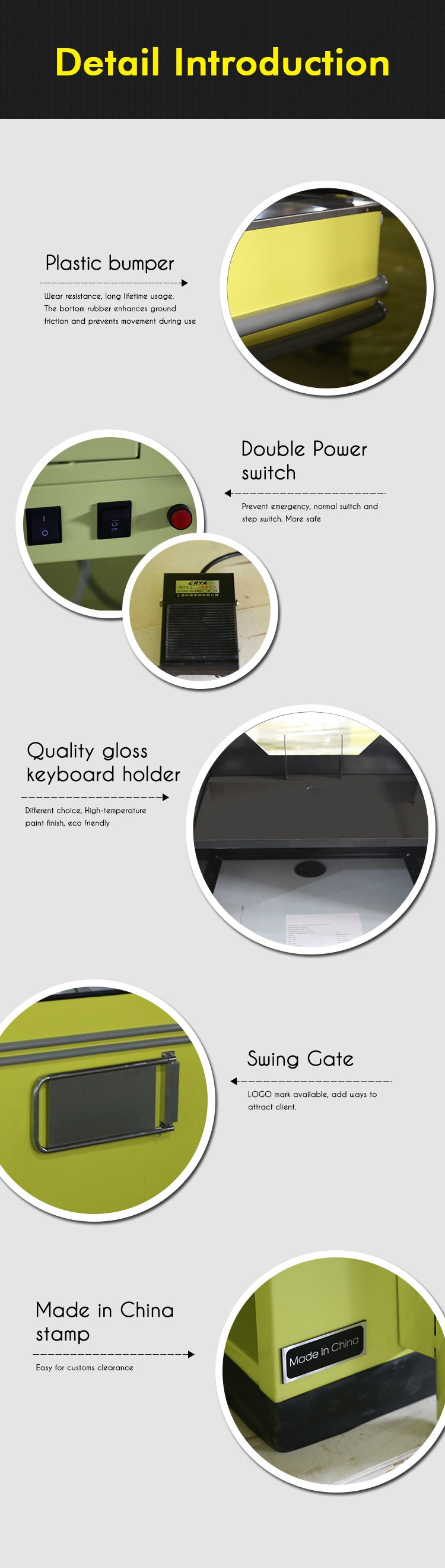 plastic PVC beading inserts corner protection piece grommets cashier desk accessories for store checkout counter