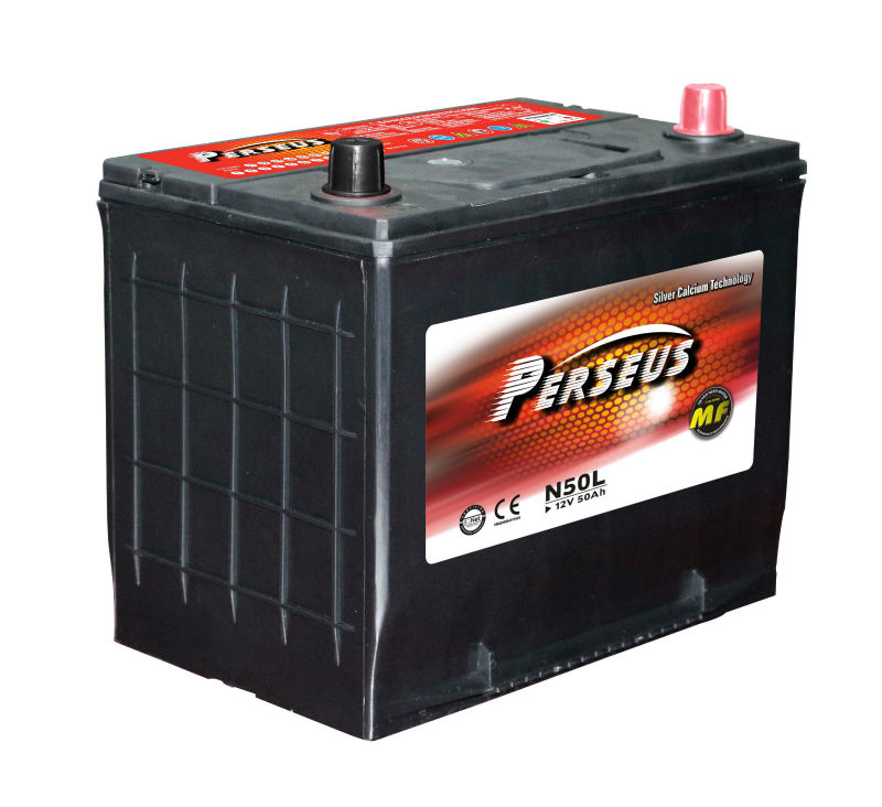 12 volt 50ah Auto batteries automobile battery JIS DIN BCI MF Car battery MFN50L/N50MF