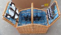 popular wicker wine picnic basket for 4 person