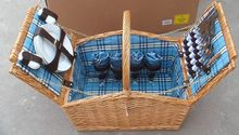 popular wicker wine picnic basket for 4 person