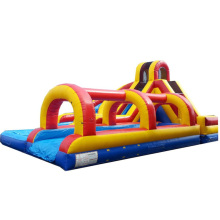high quality Rainbow Helix Dual Lane inflatable slip n slide/ water slide/ waterslide for sale