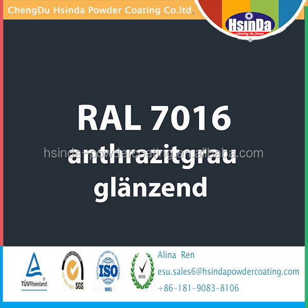 Ral color Ral 7016 Anthracuite Grey powder coating powder paint