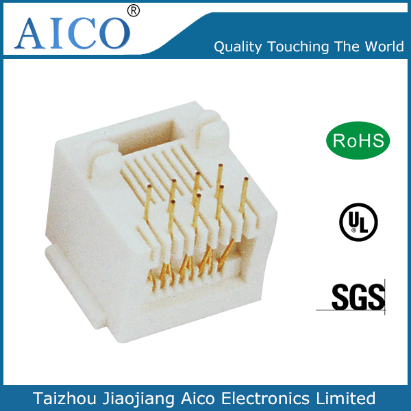 china manufacturer best quality single plastic vertical pcb mounting rj45