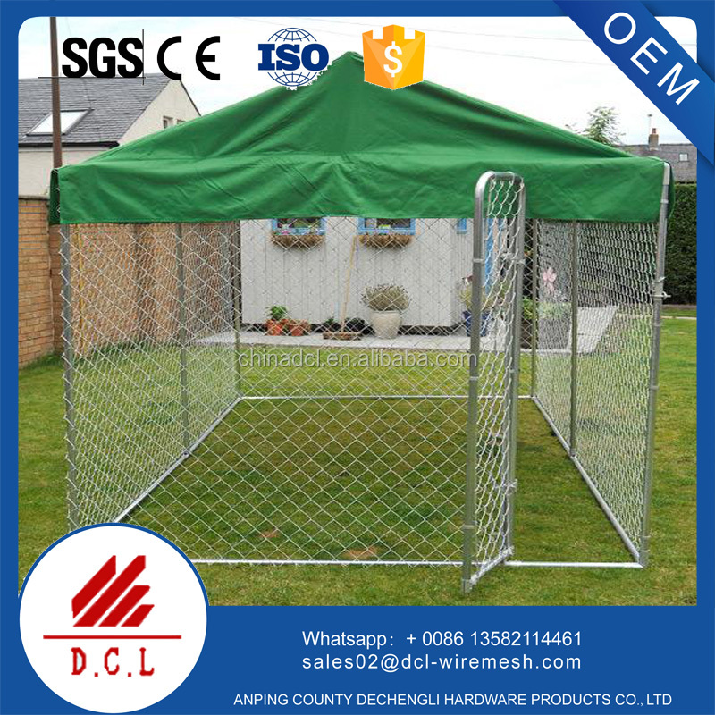 Outdoor Welded Wire Dog Kennel With Cover/dog kennel factory alibaba supplier
