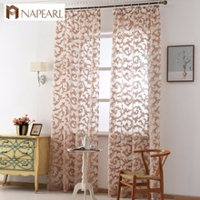 NAPEARL cheap sheer curtain fabric latest design curtains for living room window