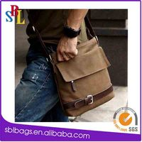 New style causal mens canvas cross body message bag shoulder bag for travel