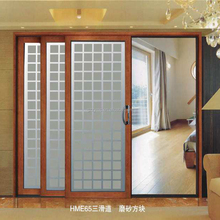 3 panel lowes glass sliding closet doors with aluminum frame
