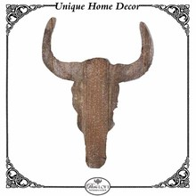 Creative Craft Animal Head Wall Hangers Cow Head Wood Wall Art Home Decor