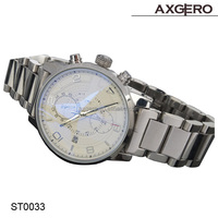Japan mov't stainless steel men's luxury watch