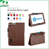 Stitching 11 colors tablet soft fiber lining PC foldable leather stand cover case for HP ElitePad 900 G1