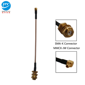 Customized RG178 Cable SMA-K/MMCX-JW Connector Adapter Cable Antenna