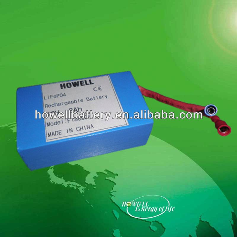 High quality 12v 3ah lithium iron phosphate 26650 rechargeable lifepo4 battery