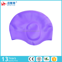 Hot selling silicone swim cap/ swim hats Sports Swim Pool Shower cap with ear protection