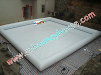 0.9mm material white inflatable pool for water balls or handle boats game(pool-169)