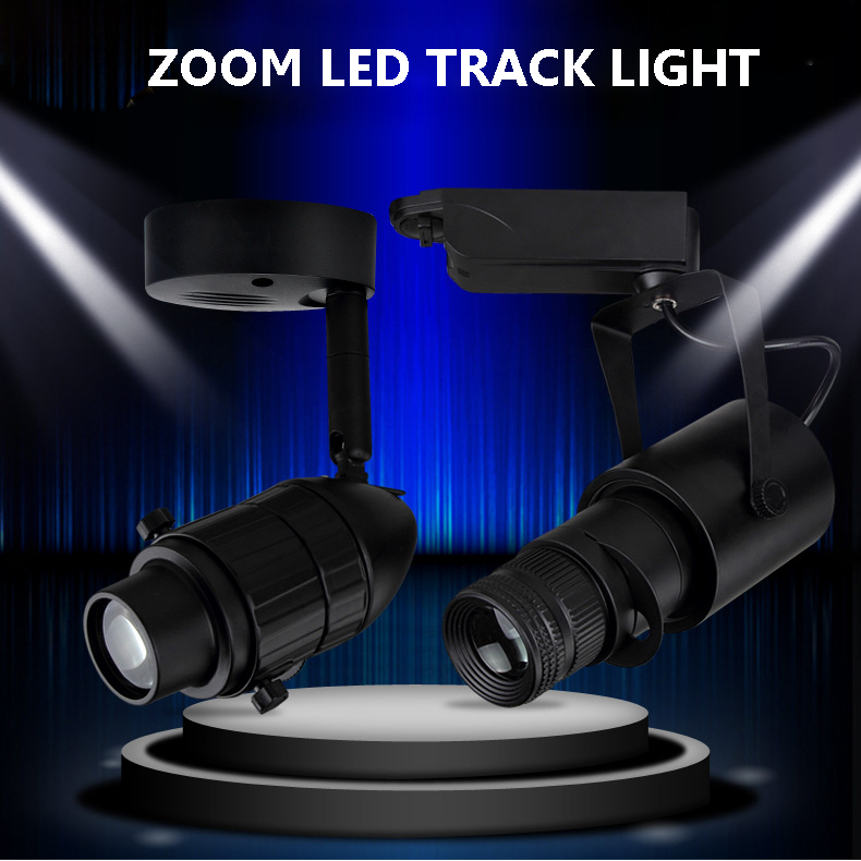 zoom len 10-70 degree beam angle gimbal linear led track lighting head for comercial lighting