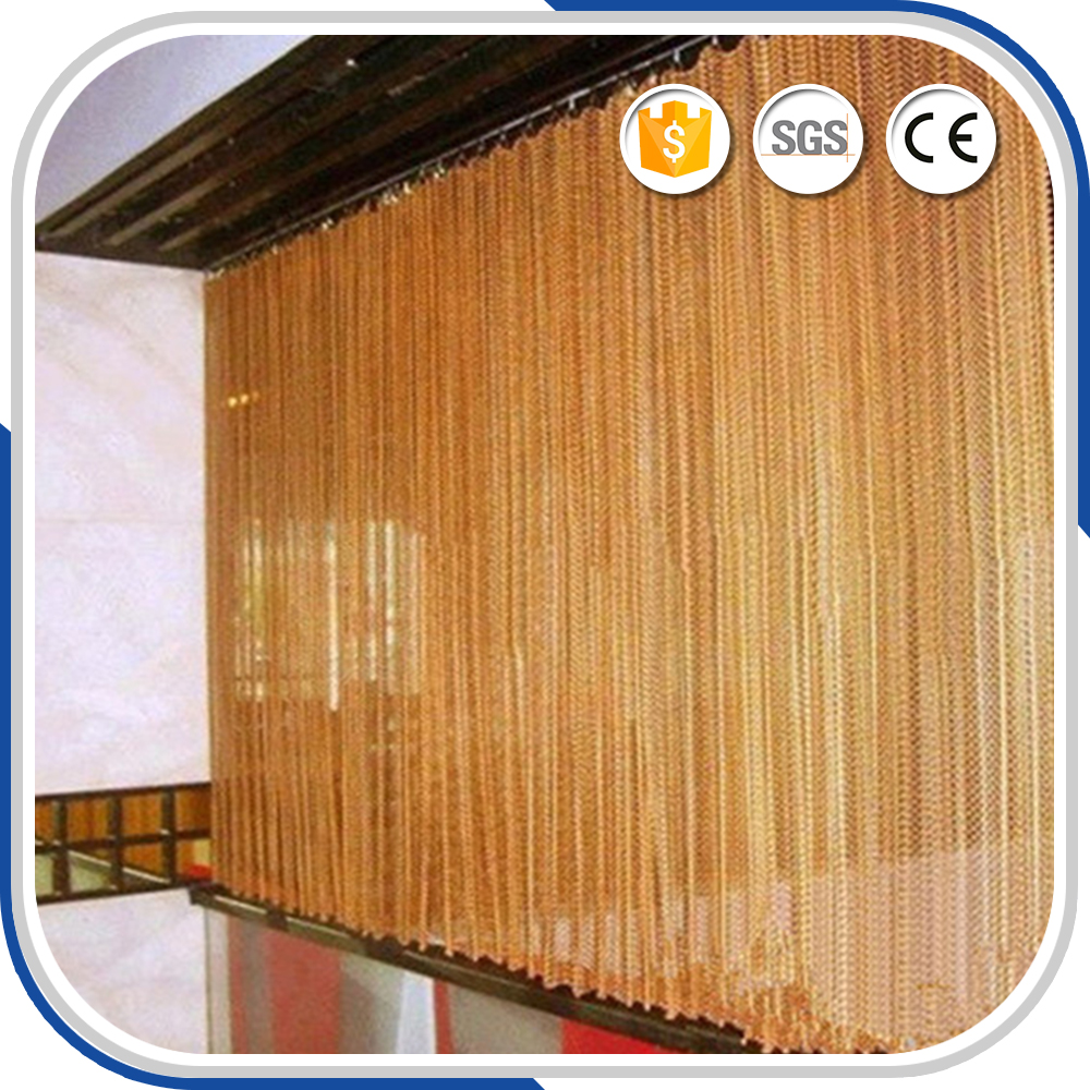 China Aluminum Chain Hanging Fly Screen Sliding Door Curtains