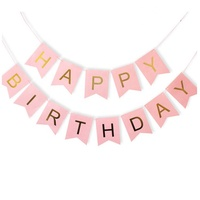 Party Decorations Happy Birthday Banner Birthday Letter Banner