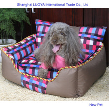 Factory direct latest design soft plush dog sofa cute large dog house small indoor kennel with zipper