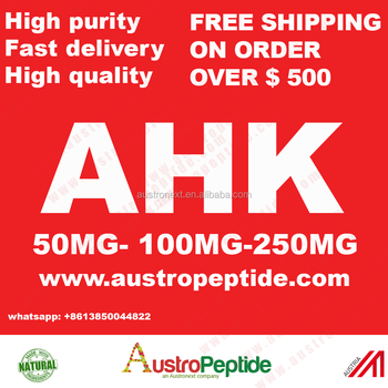 wholesale AHK peptide , 50mg AHK Tripeptide-3 Cosmetic Grade Copper Peptide // AHK-CU, Anti-aging anti-wrinkle AUSTROPEPTIDE AHK