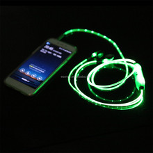 mobile phone accessories 2015 glowing earphone led earphone with mic