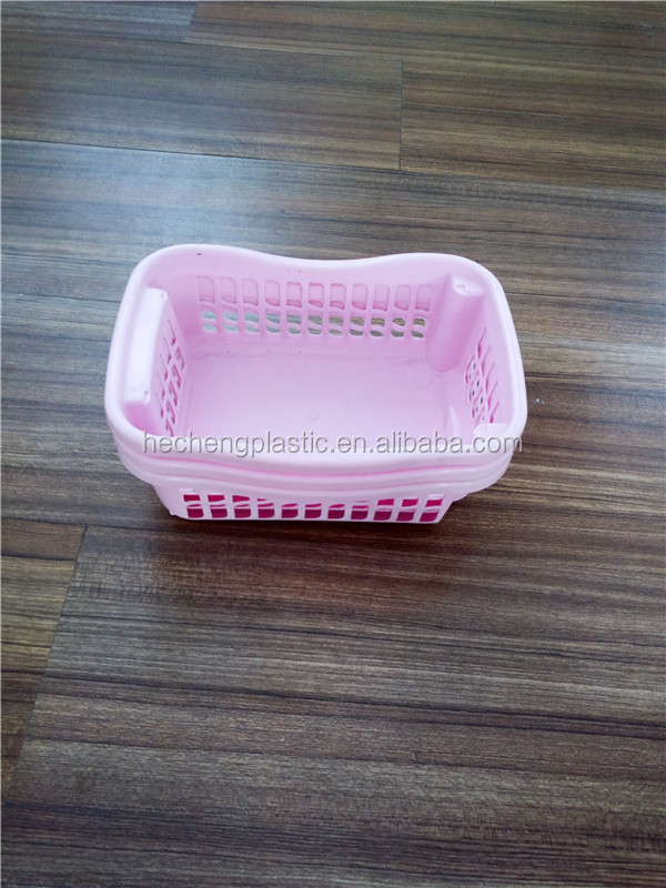 rectangle plastic food storage basket