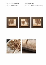 HOT SALE!!! 3 Panel Relief Living Room/Hotel Decorative Wall Art Painting