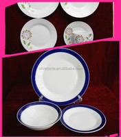fine quality white porcelain serving plates with beautiful printing