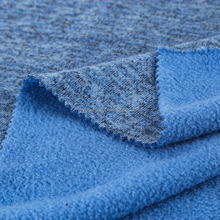 Polyester Rayon spandex Brushed soft and thickness polar fleece knit fabric