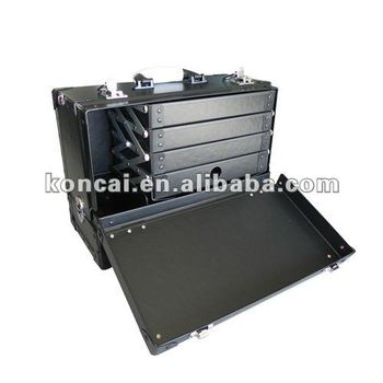 Lightweight Special Paper Aluminum Costmetic Case Made of Rigid PVC Board