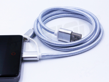 china alibaba china factory charger machine 2 in 1 usb cable for iphone 5