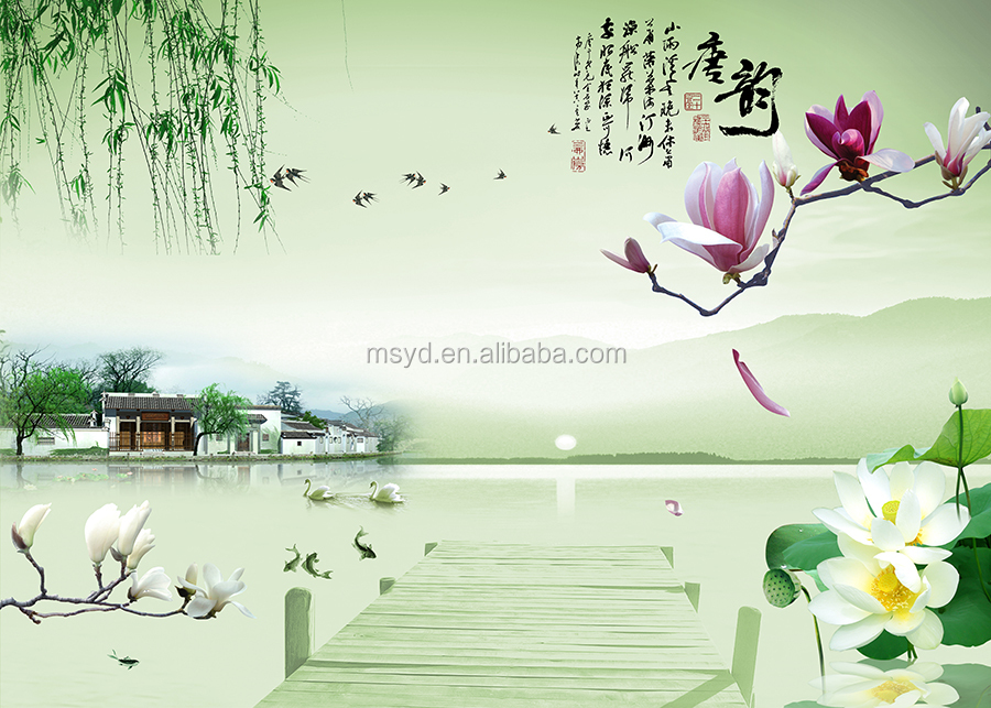 New design wallpaper murals 3d buy wallpaper mural cheap for Cheap wallpaper mural