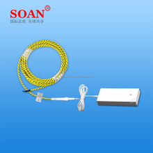 Warehouse / Home Use Wireless Wire Water Sensor/ Detector SOAN MC005WS GSM Water Leak Detecting Cable Sensor