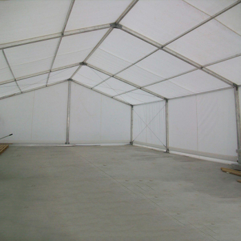 large metal tent structure warehouse