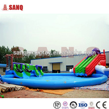Factory Directly Large Adult Size Inflatable Water Slide With Pool, Jumbo Water Slide Inflatable