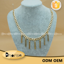 Wholesale gold metal neck chain designs for clothing decor