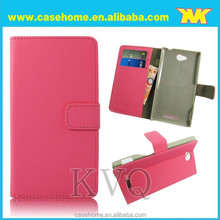wallet stand wallet case for Sony S39h,For Sony S39h leather case