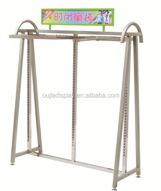 Steady Stainless Steel Clothes Rack For Baby,kids garment display