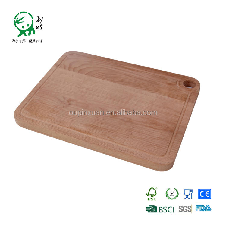 Kitchen tool wooden cutting boards with groove