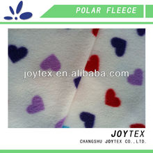 colorful heart printed polar fleece fabric for blanket