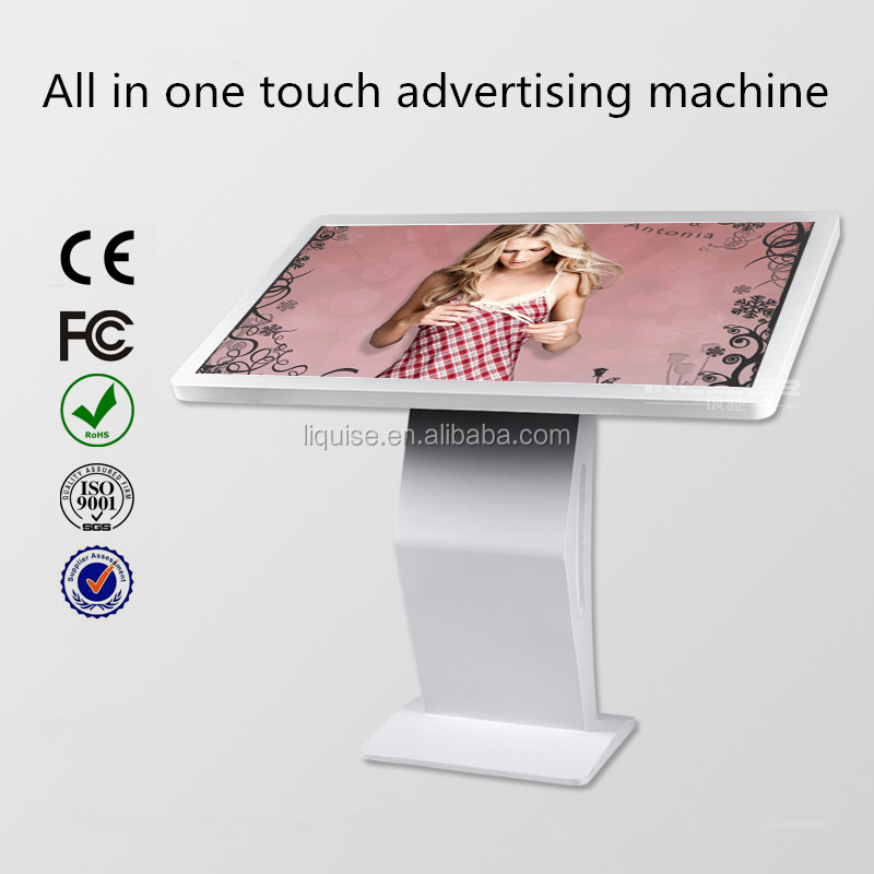 Floor-stand LCD interactive mulit touch kiosk advertising lcd screen monitor