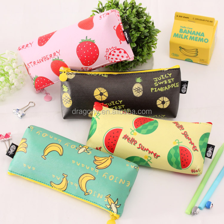 Fruit High Capacity Zipper Pencil Case