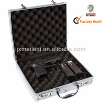MLD-GC155 New Professional Heavy Duty Handgun Melody Aluminum Gun Pistol Case, Shooting, Hunting, Camping Lockable
