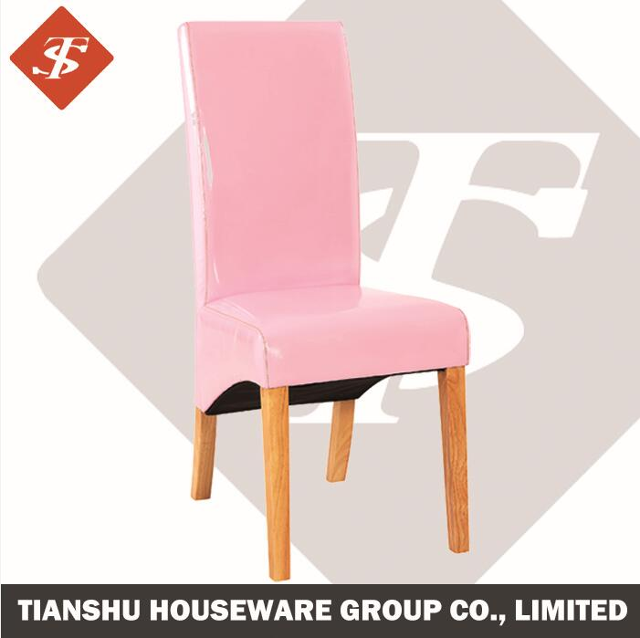 chair dining pink leather cover, wooden dining chair, Home Furniture wooden dining chair